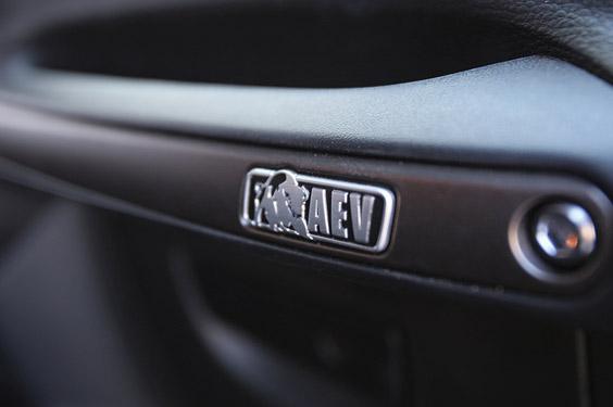AEV branding in Jeep Wrangler JK interior