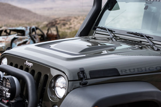 AEV Heat Reduction Hood on Jeep Wrangler JK