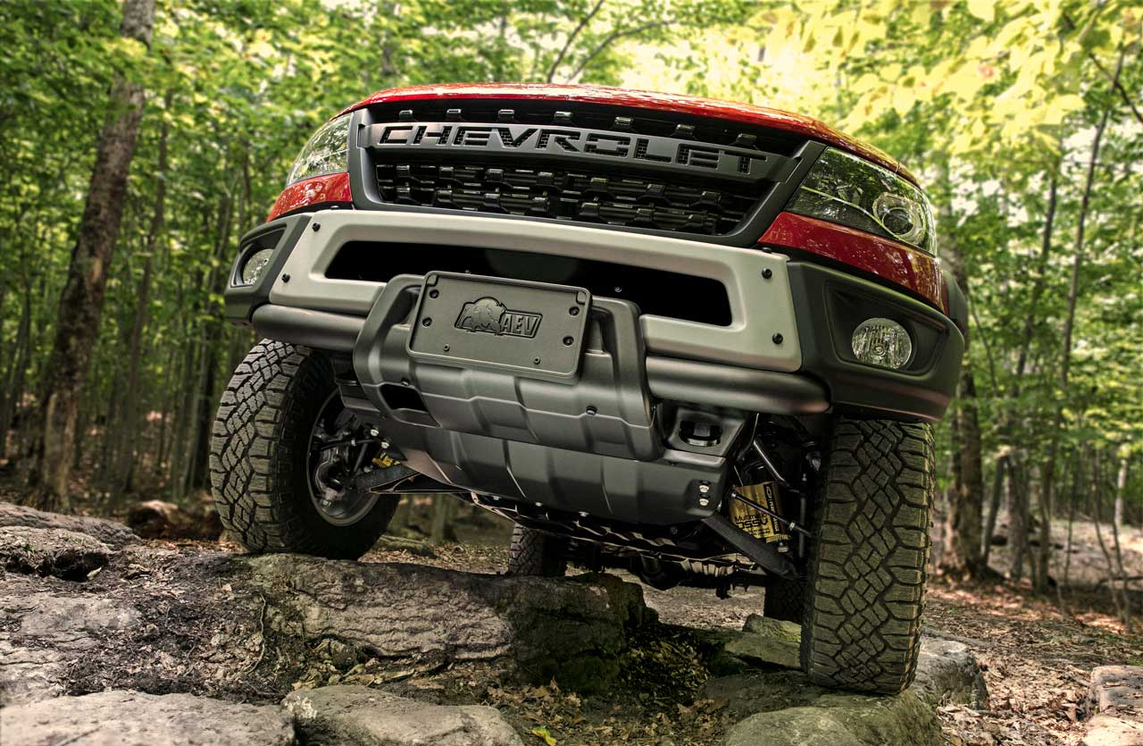 Colorado ZR2 Bison with AEV Designed Skid Plates